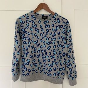 APC blue leopard print sweatshirt